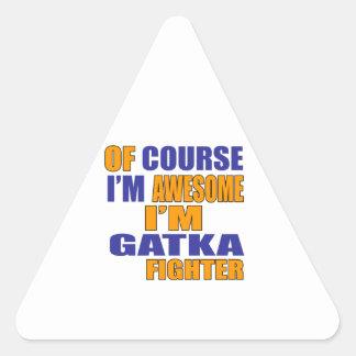 Adesivo Triangular Naturalmente eu sou lutador de Gatka