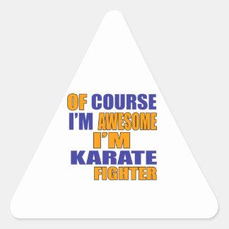 Adesivo Triangular Naturalmente eu sou lutador do karaté