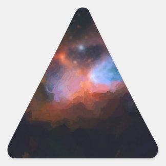 Adesivo Triangular nebulosa galáctica abstrata nenhum 1