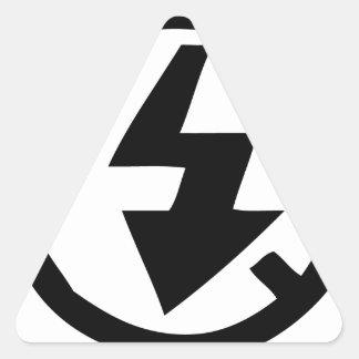 Adesivo Triangular Nenhuma fotografia instantânea