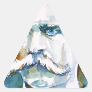 Adesivo Triangular nietzsche de Friedrich - retrato da aguarela