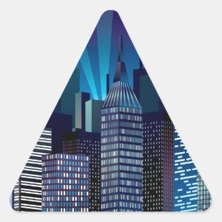 Adesivo Triangular NightCityScape_VectorDTL