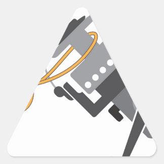 Adesivo Triangular Nó da pesca para conectar a linha ao vetor do