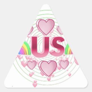 Adesivo Triangular Nós