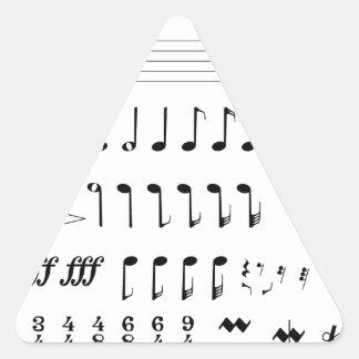 Adesivo Triangular Notação musical