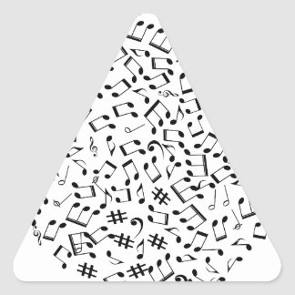 Adesivo Triangular Notas da música