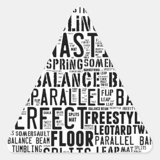 Adesivo Triangular Nuvem da palavra da ginástica