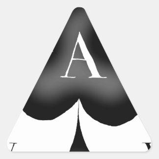 Adesivo Triangular O ás de clubes por Tony Fernandes