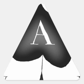 Adesivo Triangular O ás de espada por Tony Fernandes