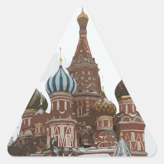 Adesivo Triangular O cathedral_eng da manjericão do santo