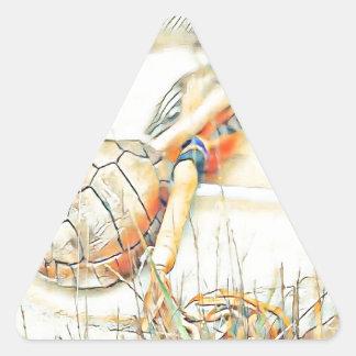 Adesivo Triangular O clã da tartaruga chocalha e rufa