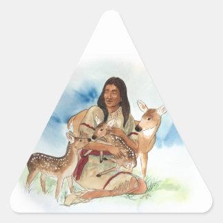 Adesivo Triangular O clã dos cervos sere de mãe com suas jovens
