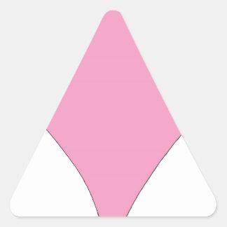 Adesivo Triangular o diamante cor-de-rosa