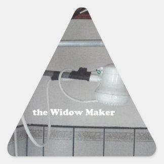 Adesivo Triangular o fabricante da viúva