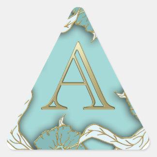 Adesivo Triangular O melhor fundo do monograma da inicial da letra do