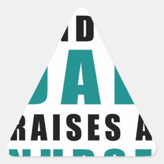 Adesivo Triangular o melhor tipo do pai aumenta uma enfermeira
