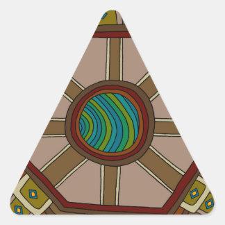 Adesivo Triangular O motor do mundo