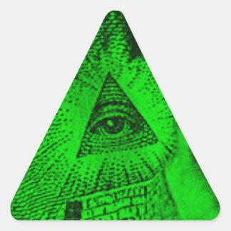 Adesivo Triangular O olho de Illuminati