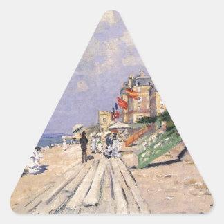 Adesivo Triangular O passeio à beira mar em Trouville Claude Monet