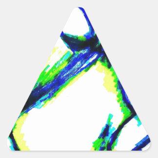 Adesivo Triangular O robô e o plano autônomos do zangão do vôo