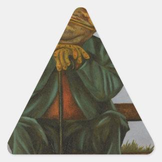 Adesivo Triangular O sapo sábio
