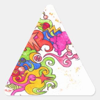 Adesivo Triangular O unicórnio Fart