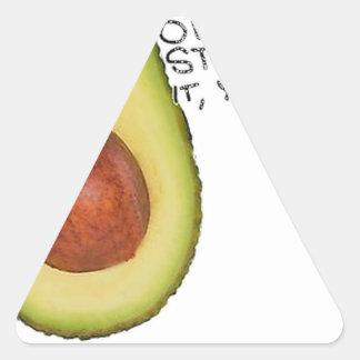 Adesivo Triangular Oh parada ele você - abacate de Meme