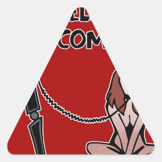 Adesivo Triangular Olá!, computador