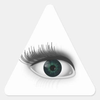 Adesivo Triangular Olho verde