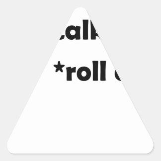 Adesivo Triangular olhos do rolo