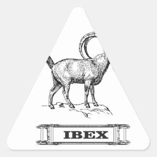Adesivo Triangular onda do rico do íbex