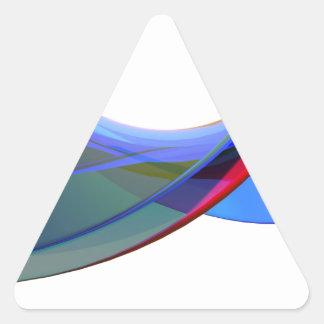 Adesivo Triangular Ondas do abstrato