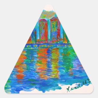 Adesivo Triangular Ondinhas de Richmond