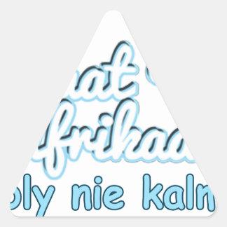 Adesivo Triangular ONS-Praat-Holandês