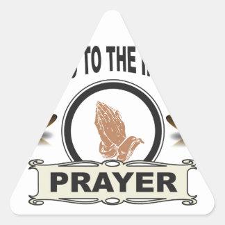 Adesivo Triangular oração infinita do acesso