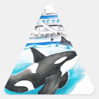 Adesivo Triangular Orca e o barco