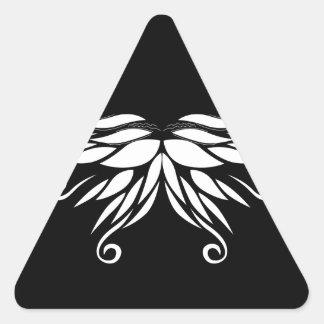Adesivo Triangular Ornamento brancos pretos do Nordic de Sibéria