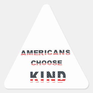 Adesivo Triangular Os americanos escolhem o tipo