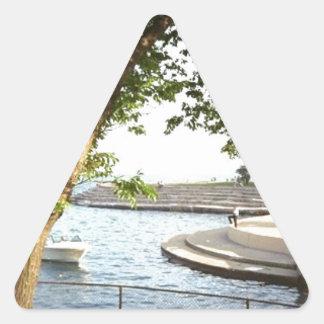 Adesivo Triangular Os anos 70 das proximidades do lago de Chicago do