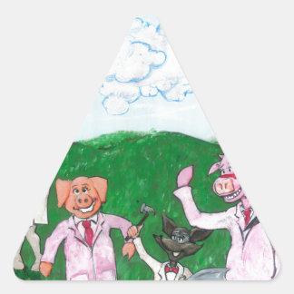 Adesivo Triangular Os suspeitos do fazendeiro