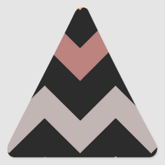 Adesivo Triangular Ouro prateado bronze