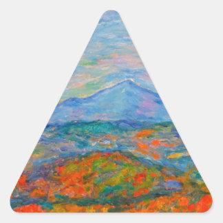 Adesivo Triangular Outono azul enevoado de Ridge
