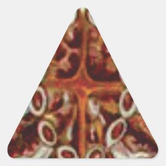 Adesivo Triangular oval das figuras e das formas