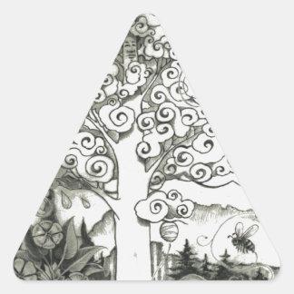 Adesivo Triangular Página PODEROSA 2 da ÁRVORE