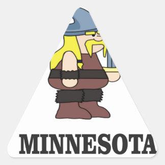 Adesivo Triangular País de Minnesota