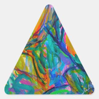 Adesivo Triangular Palco um da névoa da borboleta