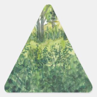 Adesivo Triangular Pântano na ilha de Rügen