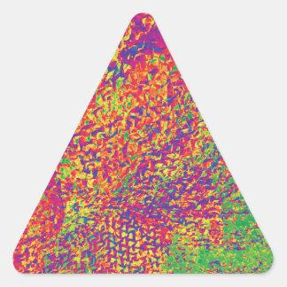 Adesivo Triangular Para o amor das cores - Psychadelic