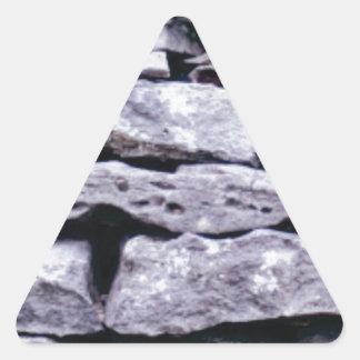 Adesivo Triangular parede empilhada da rocha