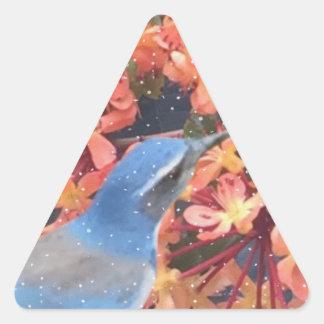 Adesivo Triangular Pássaro da neve